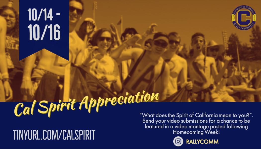 Cal Spirit Appreciation
